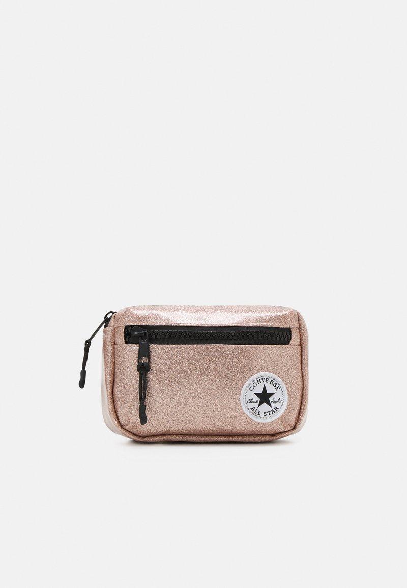 Converse - GLITTER WAIST PACK UNISEX - Across body bag - rose gold