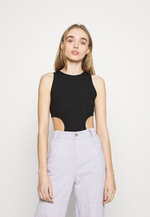 CUT AWAY BODYSUIT - Top - black