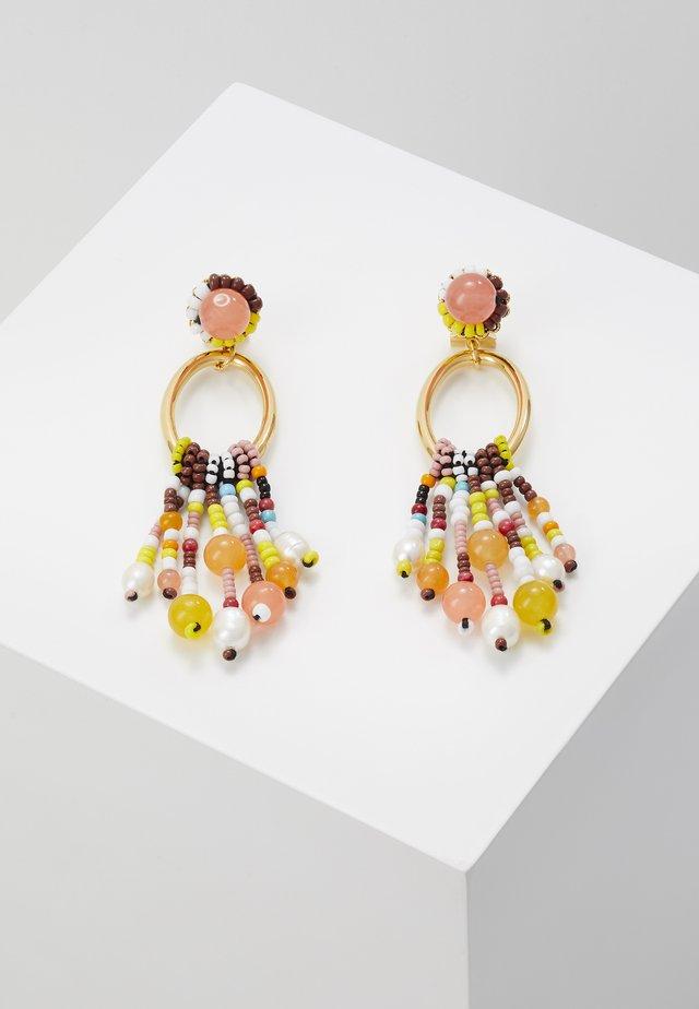 EARRINGS - Boucles d'oreilles - peach