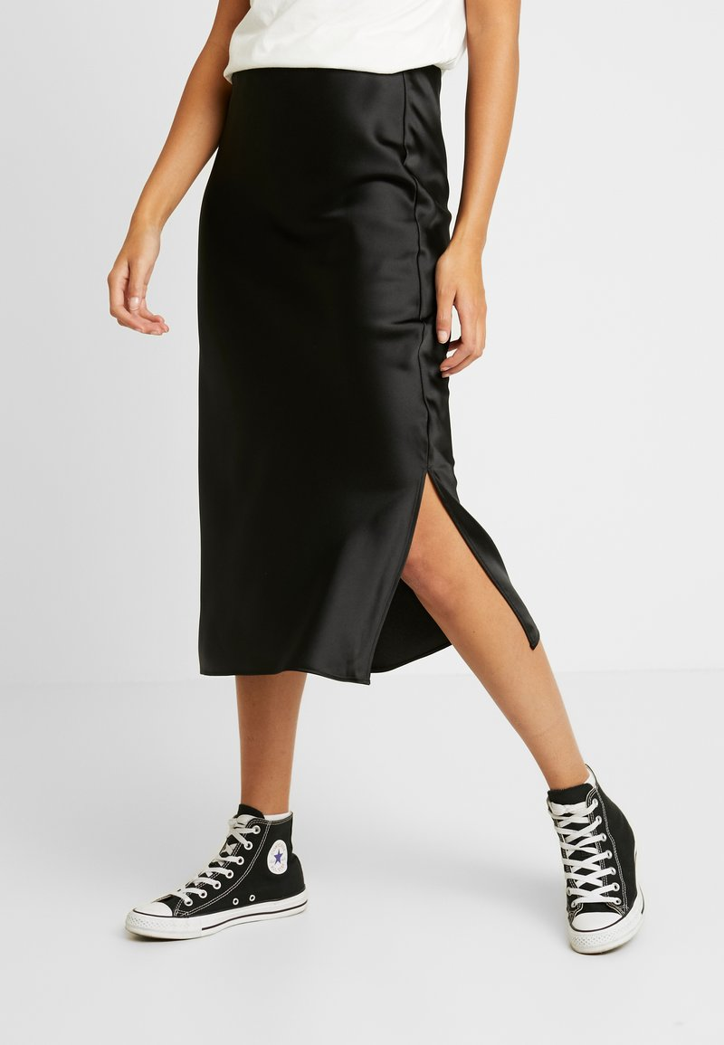 Topshop - SPLIT BIAS - A-Linien-Rock - black