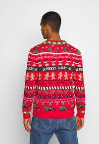 Blend - Stickad tröja - mars red - 2