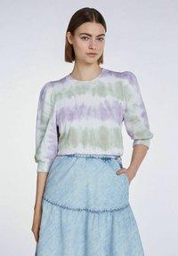 SET - MIT BATIK-LOOK - Sweatshirt - lilac green - 0