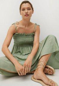 Mango - Maxi dress - pastelgroen - 4