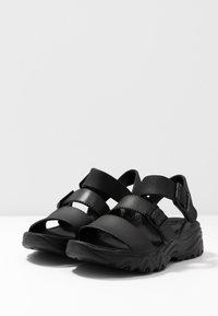 Skechers Sport - CALI - Platform sandals - black - 4