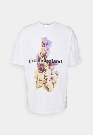 PROMISED LAND UNISEX - Printtipaita - white