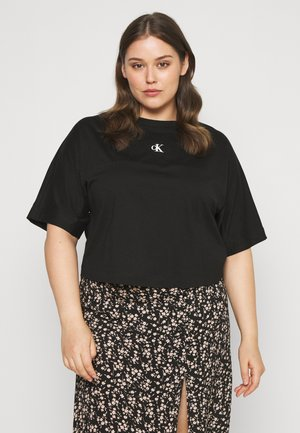 PLUS PUFF BACK LOGO TEE - Print T-shirt - black