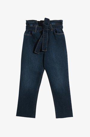 MOM FIT WITH BELT - Slim fit jeans - blue denim