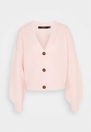 VMLEA NECK TALL - Cardigan - sepia rose