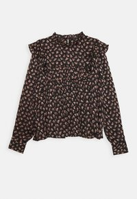 Scotch & Soda - PRINTED FLORAL IN DRAPEY QUALITY - Blouse - black/pink/bordeaux - 0