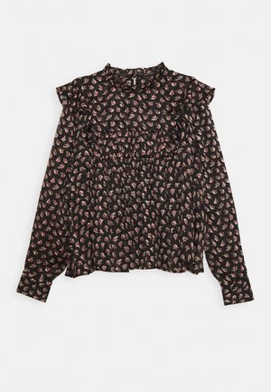 PRINTED FLORAL IN DRAPEY QUALITY - Blouse - black/pink/bordeaux