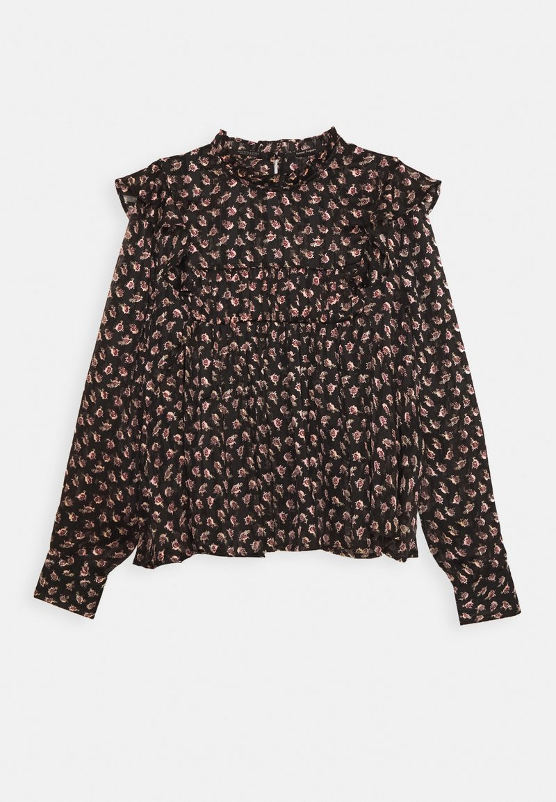 Scotch & Soda - PRINTED FLORAL IN DRAPEY QUALITY - Blouse - black/pink/bordeaux