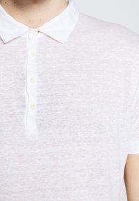 120% Lino - Polo shirt - white solid - 5
