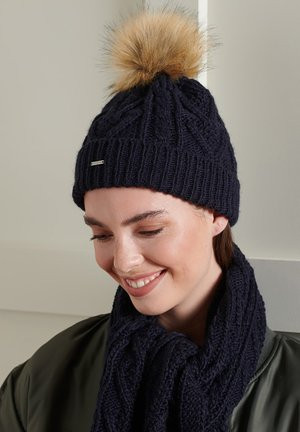 LANNAH - Bonnet - carbon navy