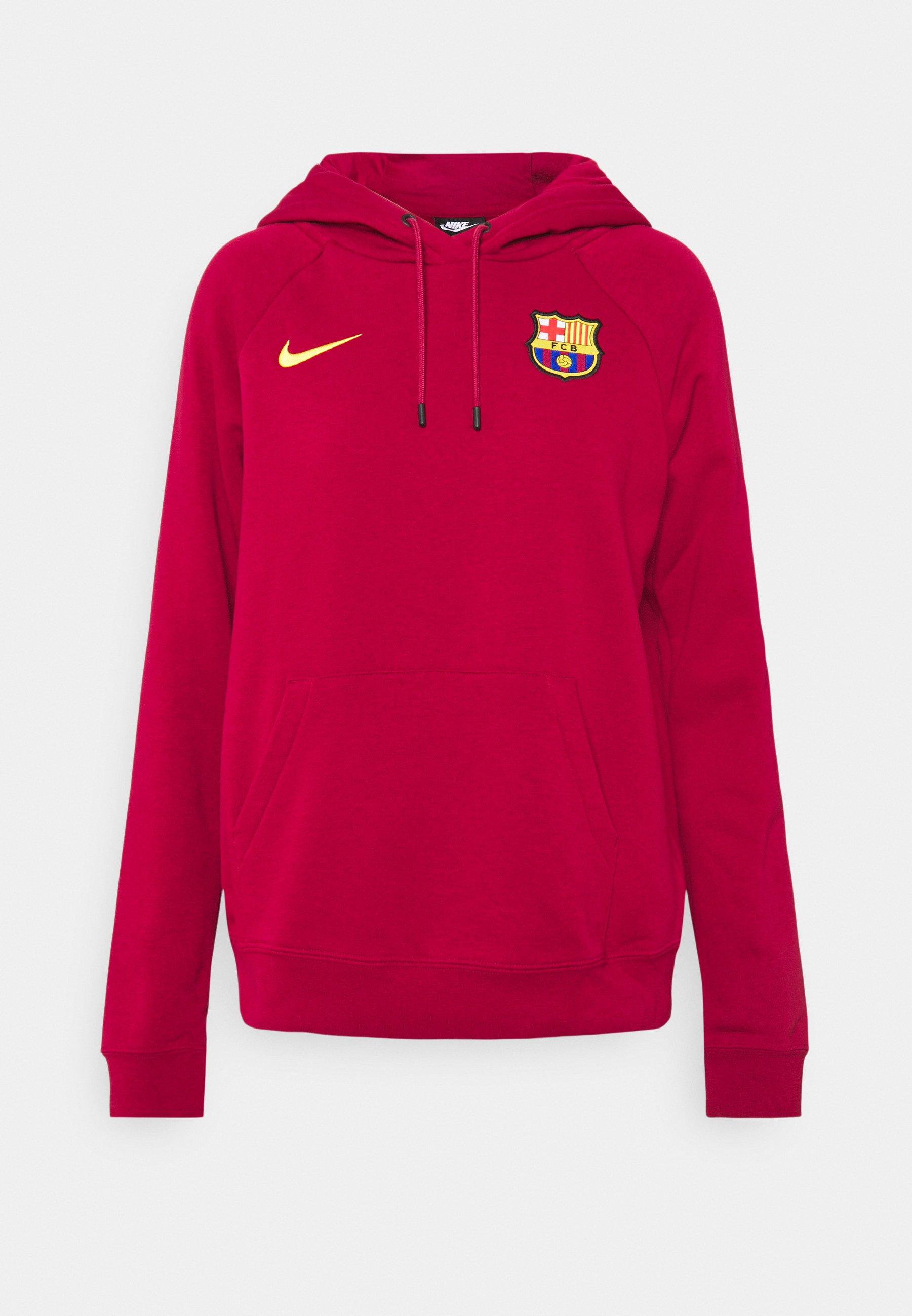 Donna FC BARCELONA HOODIE  - Squadra - noble red/varsity