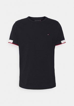 JACQUARD CUFF TEE - Print T-shirt - desert sky