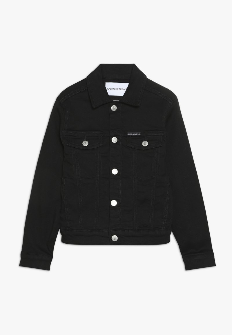 Calvin Klein Jeans - UNISEX TRUCKER - Džínová bunda - black