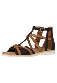 Tamaris - Wedge sandals - black nut - 1