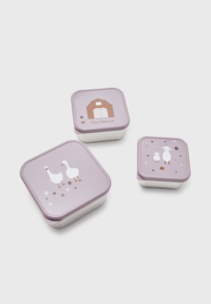 SNACKBOX SET - Śniadaniówka - lilac
