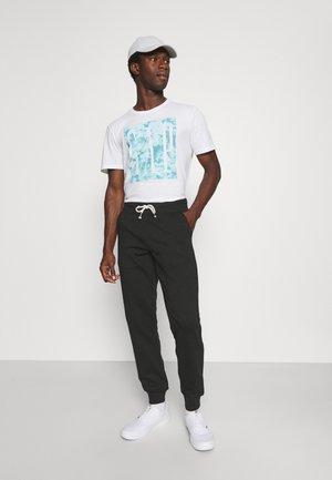 3 PACK - Teplákové kalhoty - mottled light grey/mottled dark blue/black