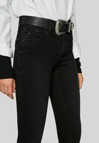 Stradivarius - Jeans Skinny Fit - black denim - 3