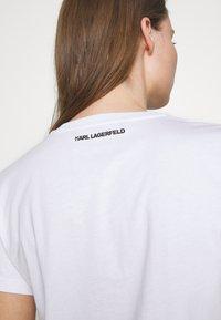 KARL LAGERFELD - CIRCLE LOGO - Triko spotiskem - white - 5