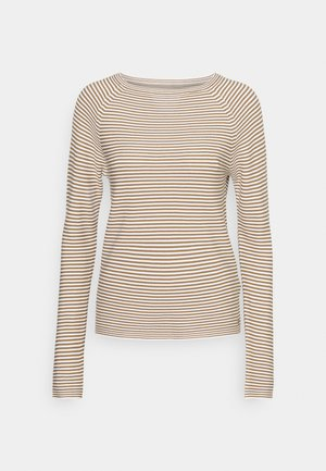 LONG SLEEVE CREW NECK - Strikkegenser - multi/milky coffee