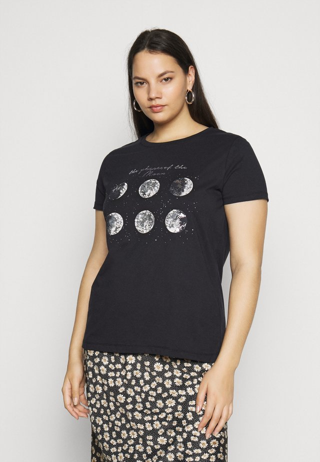 CARBARNEY LIFE TEE - T-shirt med print - black