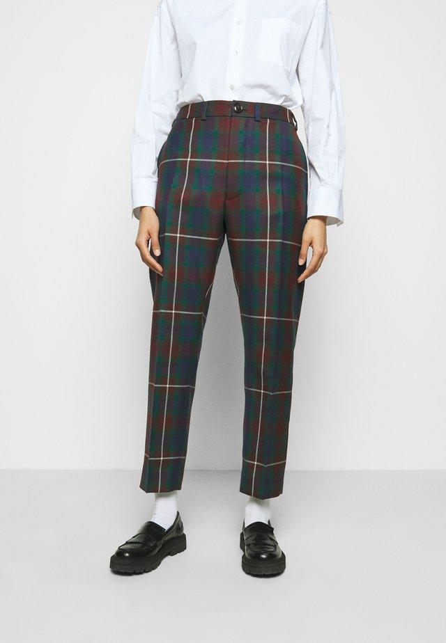 GEORGE TROUSERS - Spodnie materiałowe - brown