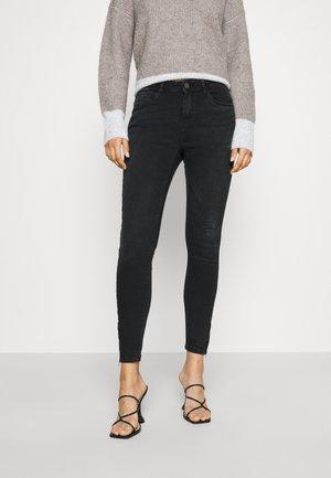 NMKIMMY ANK DART - Jeans Skinny Fit - dark grey denim