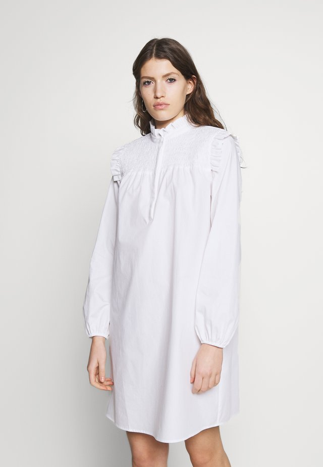 ROSIE FUSINE SHIRT DRESS - Hverdagskjoler - snow white