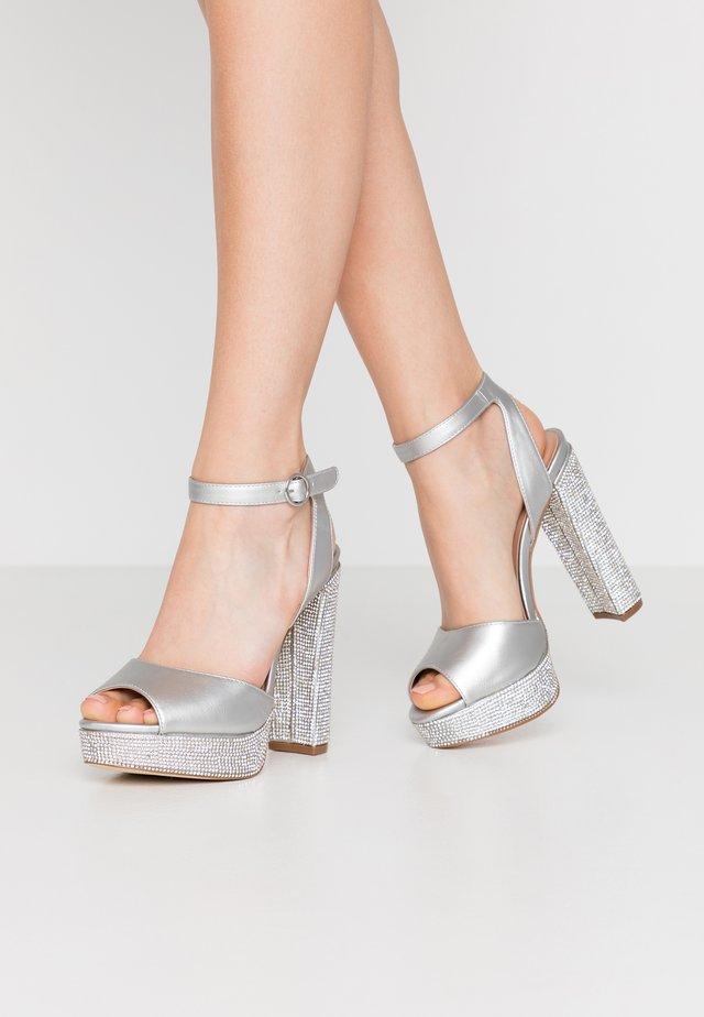 YEAVIA - Sandály na vysokém podpatku - silver