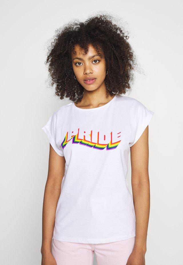 VISBY PRIDE - T-shirt con stampa - white