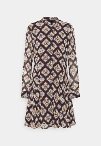 PRINTED DRESS - Day dress - mauve