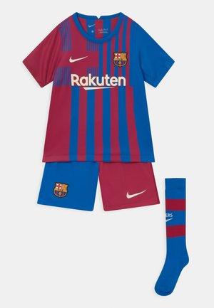 FC BARCELONA SET UNISEX - Klubové oblečení - soar/noble red/pale ivory