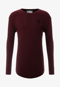 SIKSILK - LONG SLEEVE BRUSHED GYM TEE - T-shirt à manches longues - burgundy - 4