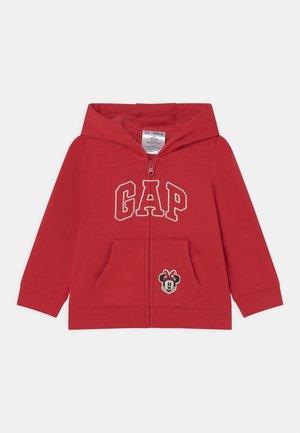 Sweater met rits - modern red