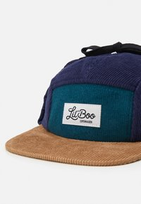 Lil'Boo - CORDUROY BLOCK  PANEL EARS - Cap - green/blue - 4