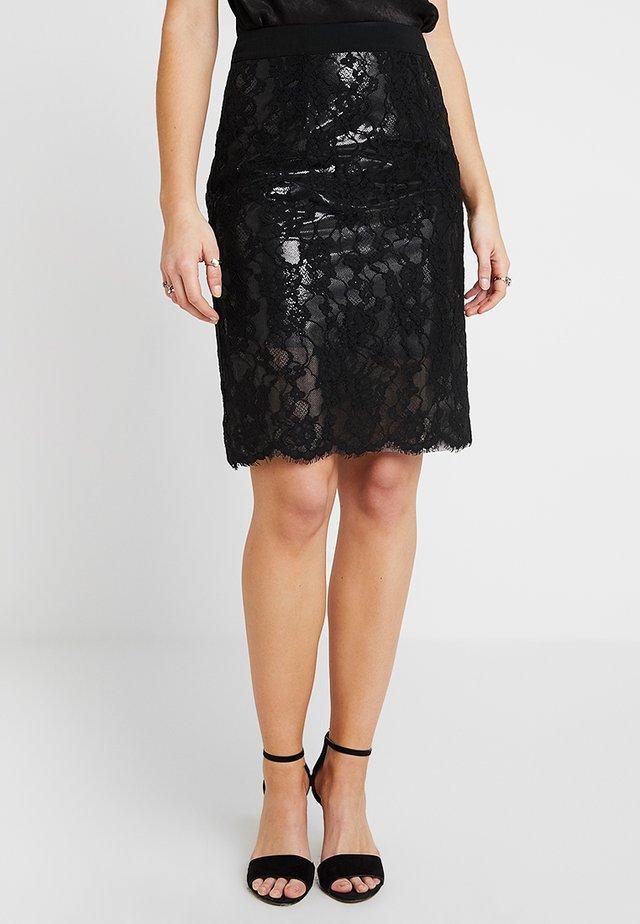 DARWIN SKIRT - Pouzdrová sukně - black