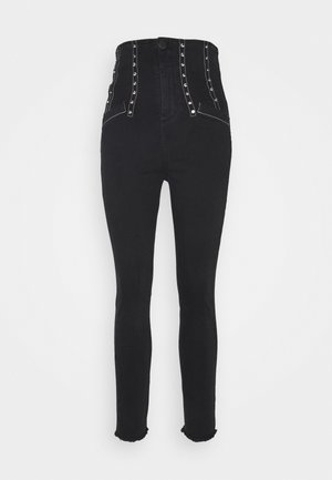 SKYE TROUSERS - Jeansy Skinny Fit - black