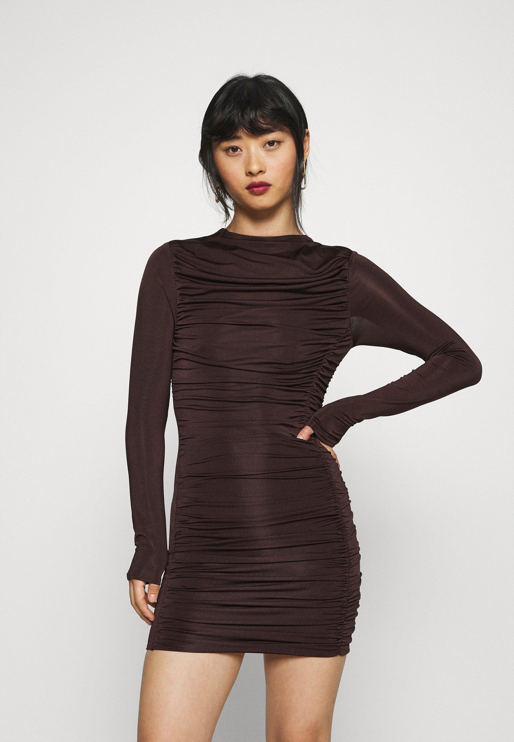 Women RUCHED SLINKY MINI DRESS - Day dress