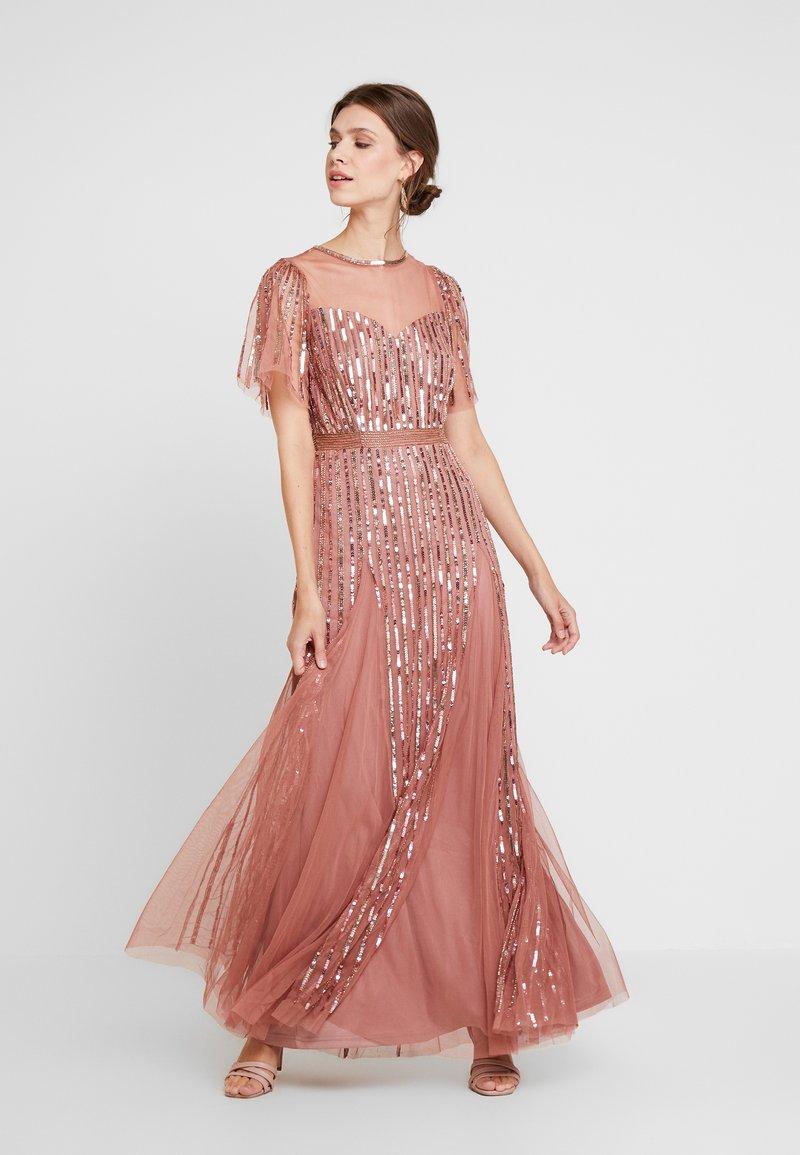Lace & Beads - MEGHAN MAXI - Společenské šaty - dusty pink