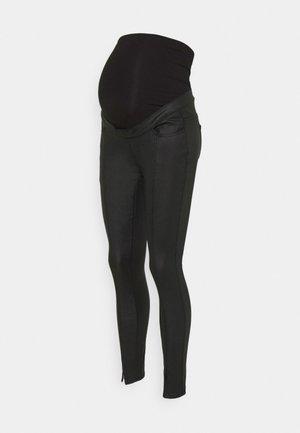 SPLIT COATED SINNER - Kangashousut - black