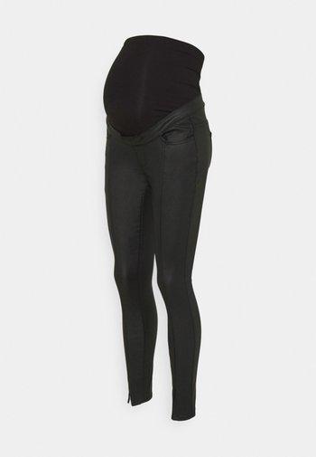 SPLIT COATED SINNER - Trousers - black