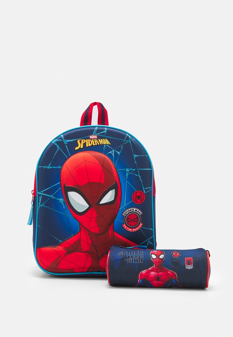 Kidzroom - BACKPACK AND PENCIL CASE SPIDER-MAN BE STRONG SET - School set - navy