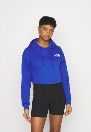 TREND CROP DROP HOODIE - Sweatshirt - blue