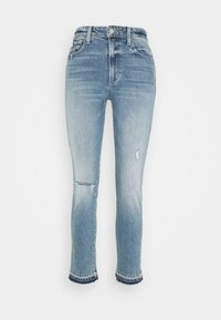 THE LUNA CIGARETTE ANKLE - Jeansy Slim Fit - rosehip