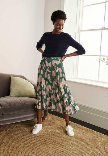 LOUISA  - A-line skirt - palmblattgrün, wolkentraum