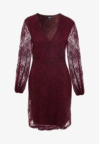 Missguided Tall - PLUNGE BUTTON FLARE DRESS - Juhlamekko - plum - 5