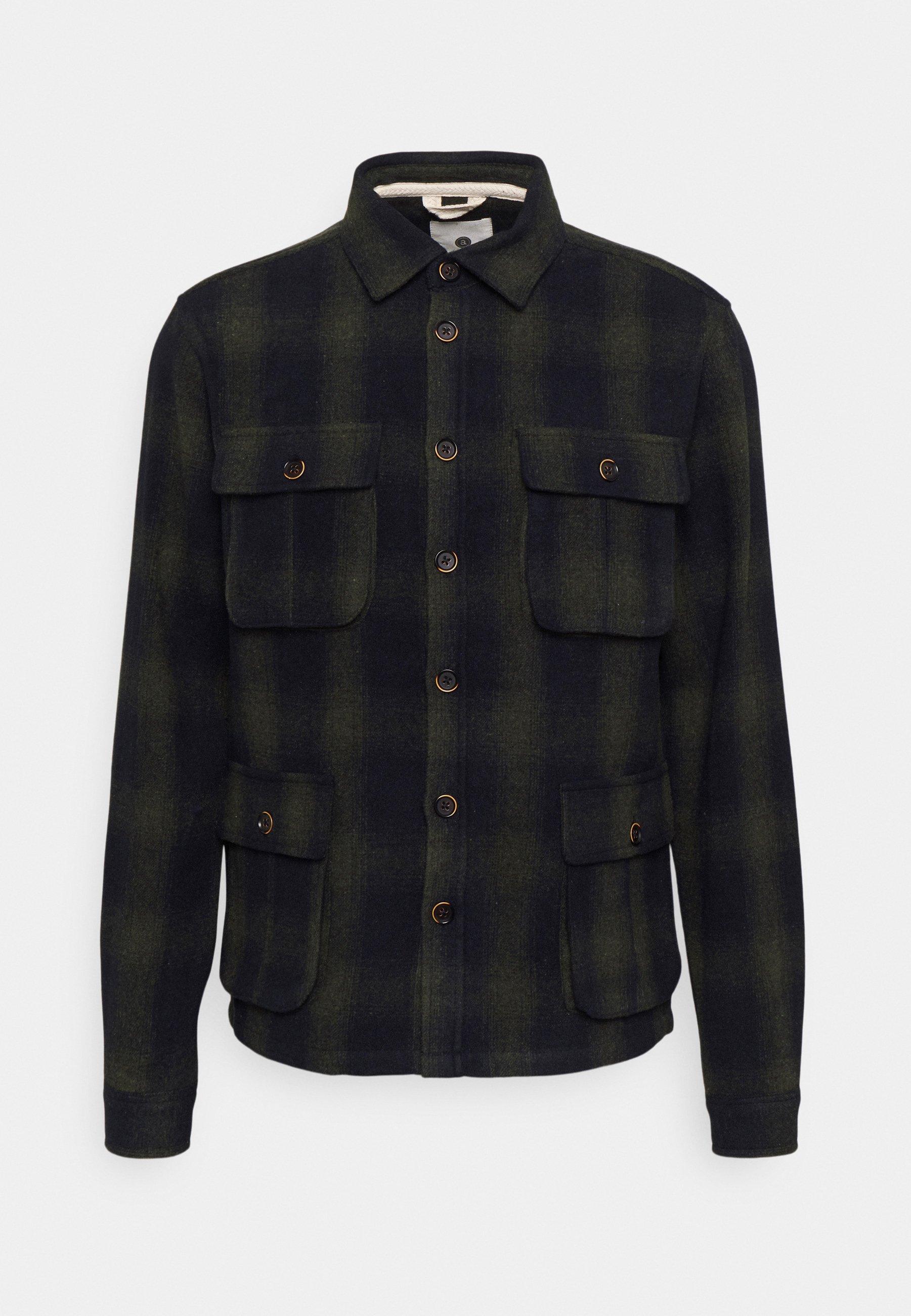 Men AKOSCAR CHECK OVERSHIRT - Summer jacket