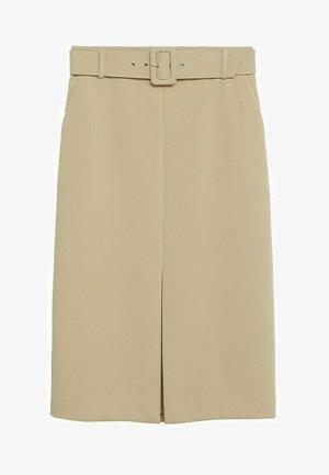 PENCIL - A-lijn rok - beige